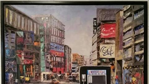 'Una calle de cualquier ciudad', un óleo que Francisco Tejada Jar...