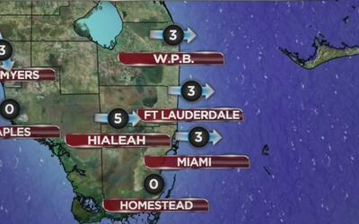 Abundante nubosidad y posibilidad de lluvias este miércoles en Miami