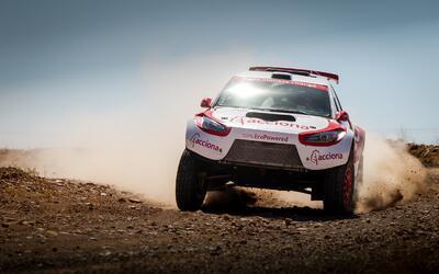 Este es el Acciona 100% EcoPowered, el único auto eléctrico del Dakar 2017