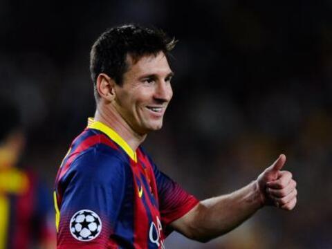 Este miércoles el astro argentino del Barcelona Lionel Messi dio...