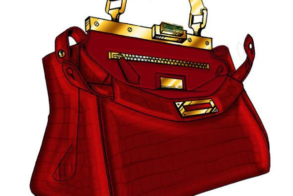 Ella ideó un bolso de piel de cocodrilo roja. (Imagen de Fendi).