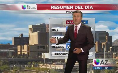 Frescas temperaturas en Tucson