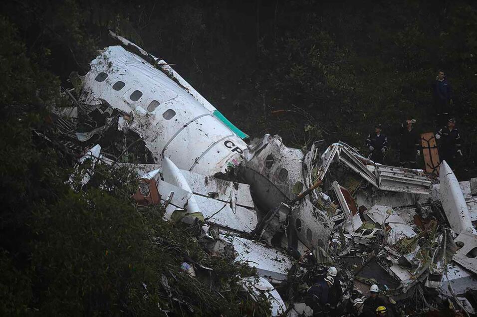 Imágenes del accidente trágico del Chapecoense