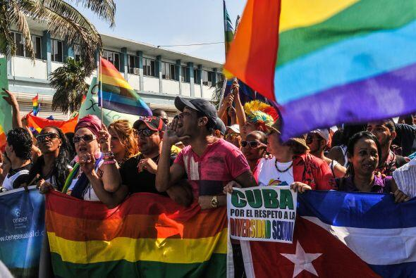 """Homofobia no, Socialismo sí"", cantaron los activistas encabezados por M..."