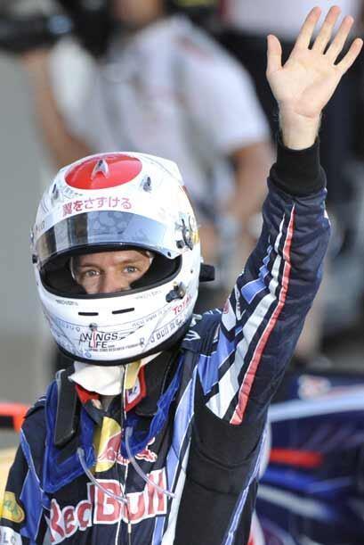 El joven aleman cambió el diseño de su casco para esta carrera y parece...