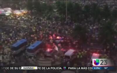 Caos en las calles de Brasil tras derrota de su equipo
