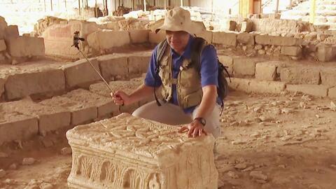 Alan descubrió el templo de Magdala, donde se unen las religiones cristi...