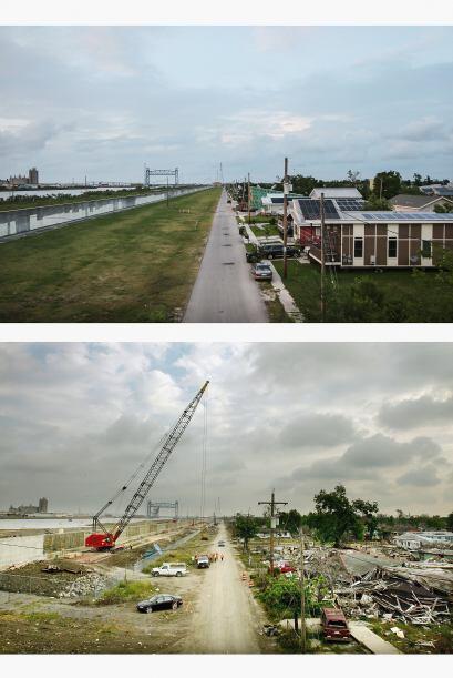 Casas nuevas fueron construidas a lo largo del reconstruido Canal Indust...