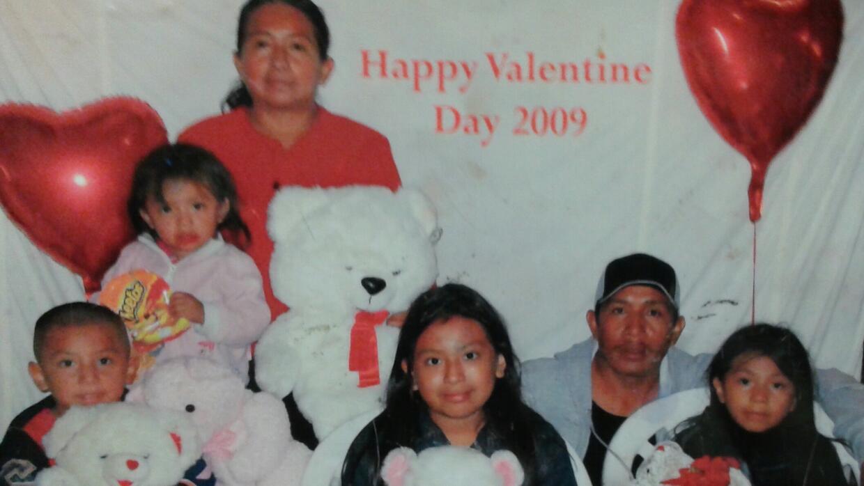 La familia de Lucía Quiej en una foto de 2009
