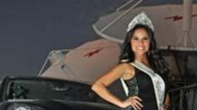 Cynthia Piña, al volante