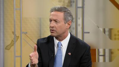 Precandidato presidencial demócrata Martin OMalley
