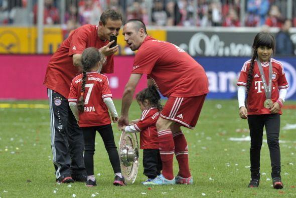 Los hijos también fueron parte de la celebración.