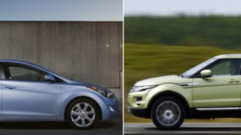 El Hyundai Elantra y la Range Rover Evoque fueron nombrados North Americ...