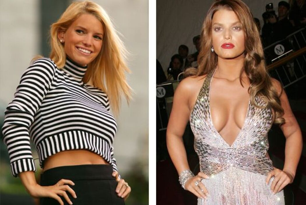Jessica Simpson utilizó sus atractivos para sobresalir.  Aquí los videos...