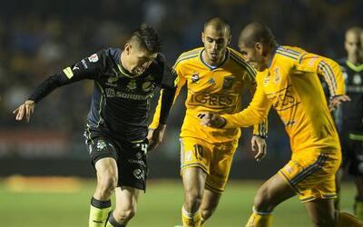 Tigres y Santos empataron 1-1 en la fecha 6 de la Liga MX