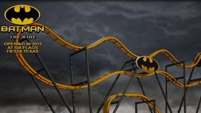 Conoce Batman: The Ride, un nuevo tipo de roller coaster que promete hac...