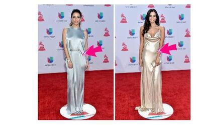 Vestidos similares de las famosas