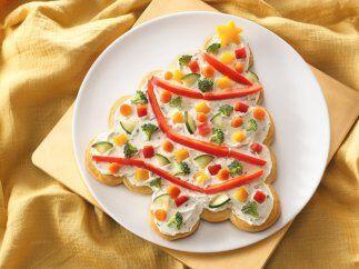 Prueba el delicioso y saludable Árbol de Navidad de hojaldre que mezcla...