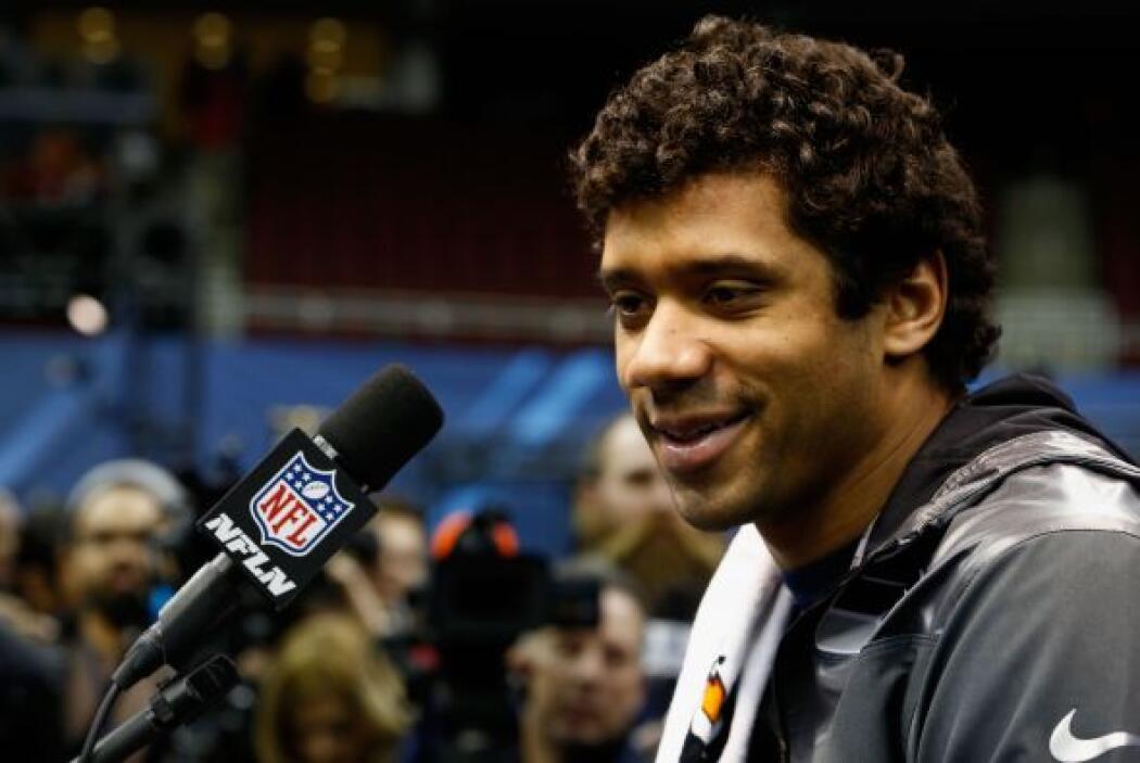 Wilson se vio tranquilo y contento ante su primer Super Bowl.