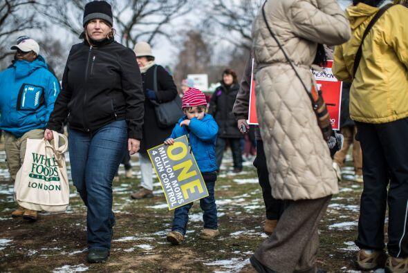 """La """"Marcha en Washington para el control de armas"""" fue convocada hace al..."""