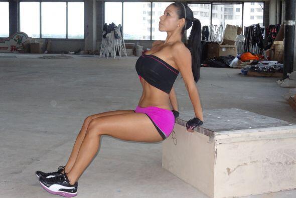 Otro buen ejercicio para los brazos es este.