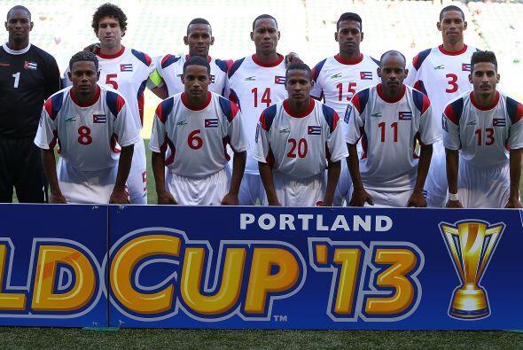 Cuba debutó en la Copa Oro 2013 enfrentando a Costa Rica.