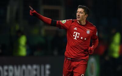 Lewandowski volvió a brillar con el Bayern