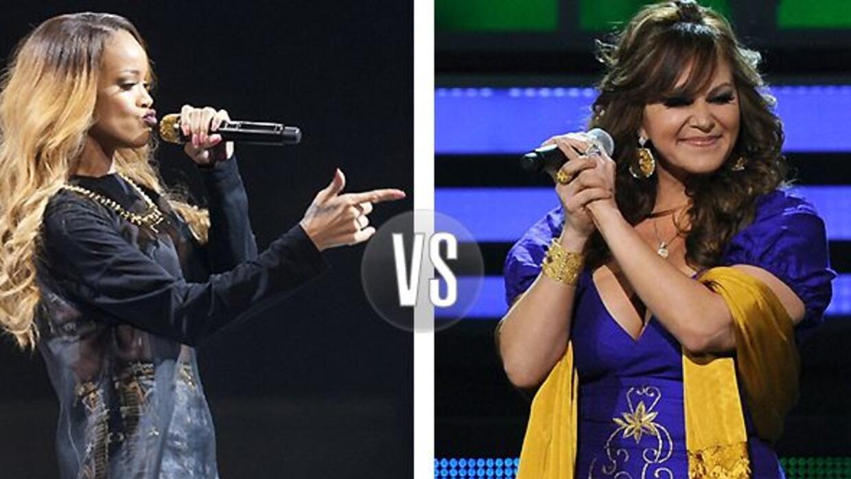 Rihanna agarró a microfonazos a un fan, igual que hizo Jenni Rivera hace...