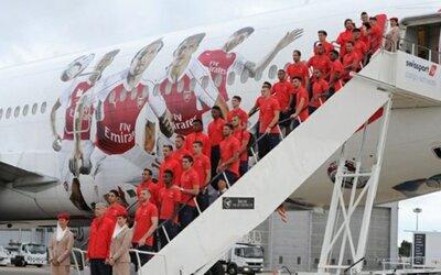 Arsenal tomo un vuelo de 14 minutos