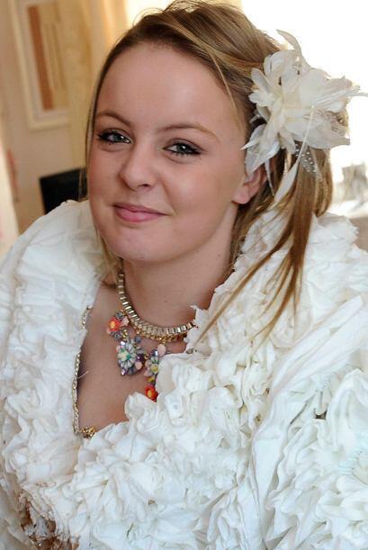 ¡La novia se veía muy bien!
