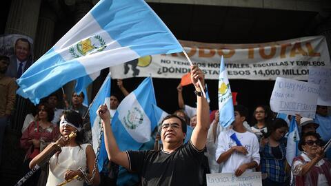 Manifestación ciudadana contra la corrupción en Guatemala
