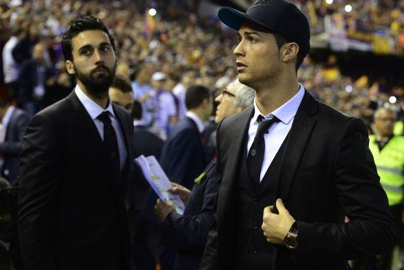 Cristiano Ronaldo estuvo presente, pero en las gradas, como se hab&iacut...