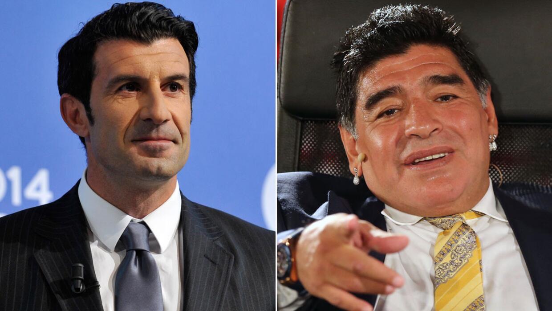 Figo responde a Maradona: ''Algunos sólo son conscientes cuando duermen'...