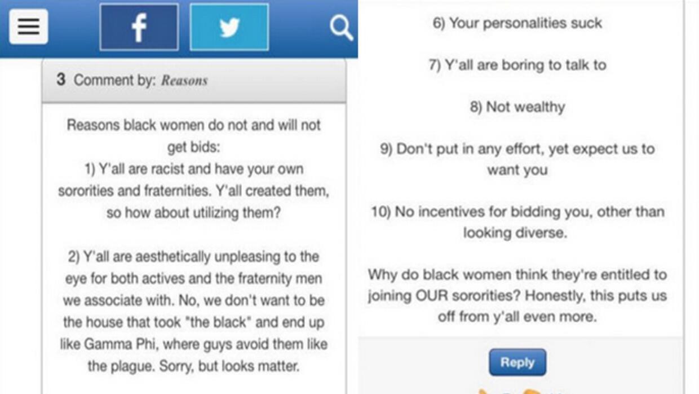 Comentarios racistas