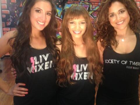 Maity Interiano y Leslie Grace asistieron a una clase con las Chicas Ter...
