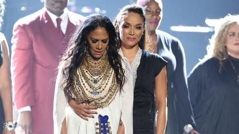 Sheila E., percusionista y colaboradora de Prince, junto la ex-esposa de...