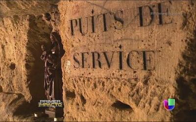 Las catacumbas de París fueron el centro de una película de terror