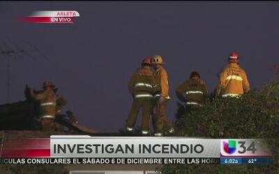 Familia se salva de misteriosos incendio en casa en Arleta