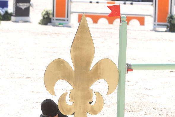 El caballo sobre el que practicaba no logró saltar debidamente.