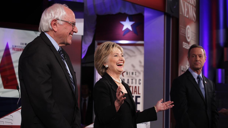 Los aspirantes a la candidatura demócrata