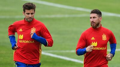 Sergio Ramos y Gerard Piqué