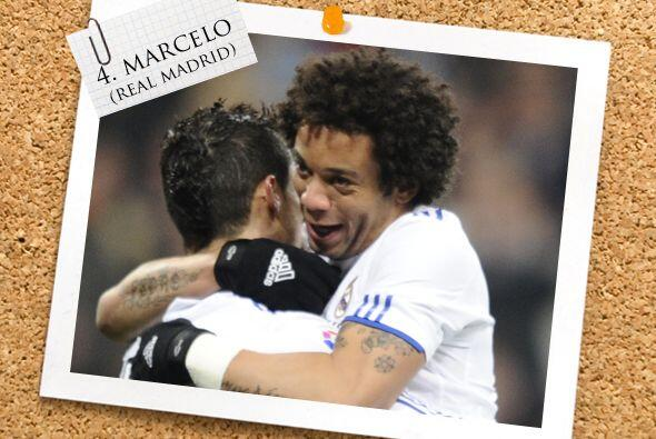 El último hoombre de la zaga es Marcelo, del Real Madrid.