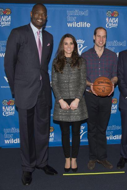 La pareja real acudió al encuentro de baloncesto entre los Cleveland Cav...