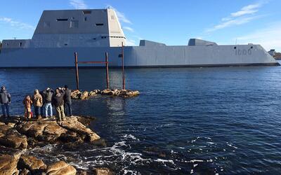 El buque destructor fue entregado en Maine