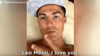 Cristiano 'declara' su amor a Messi