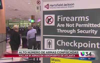 Más de 90 armas confiscadas en aeropuerto de Atlanta