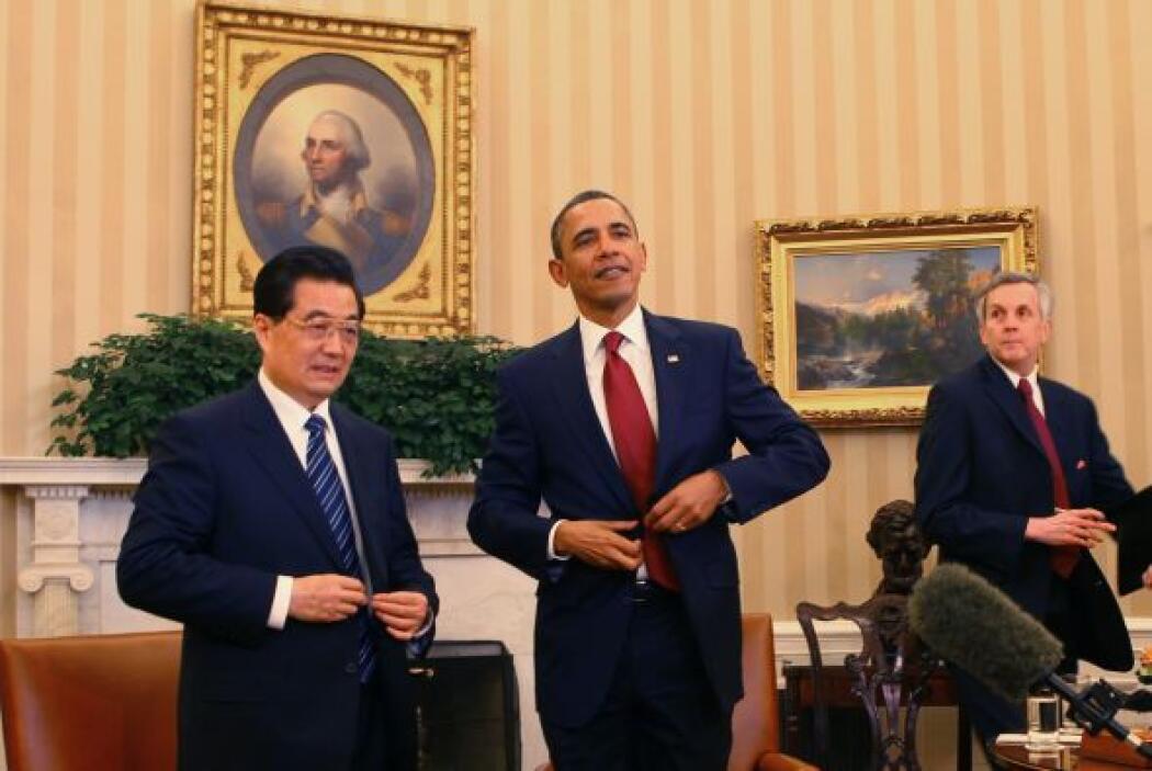 Obama y Biden se reunieron con Hu en la Oficina Oval antes de un encuent...