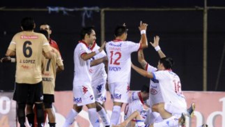 Nacional celebra su gol contra Zamora.