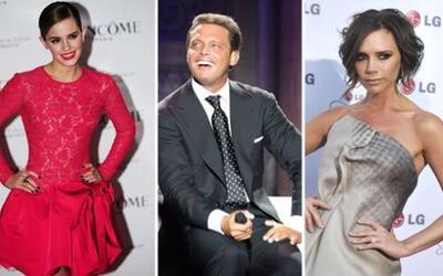 Luis Miguel, Emma Watson, y Victoria Beckham son algunas de las celebrid...