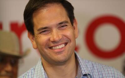 El senador Marco Rubio en Miami, la víspera de la elección...
